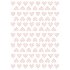 Stickers coeurs roses pour chambre bébé fille