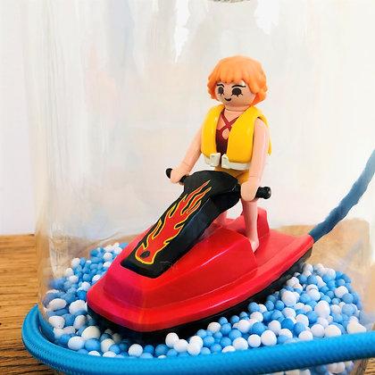 """La lampe Playmobil© """"Jenna fait du jet ski"""""""