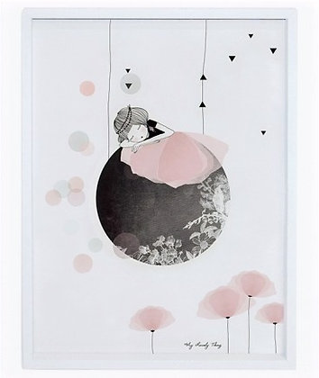 Affiche et Cadre - La danseuse sur la Lune