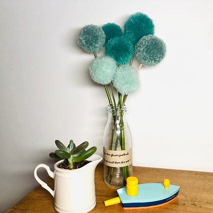 Le bouquet de pompons verts
