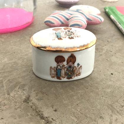 """La boîte en porcelaine """"Mon ami"""""""