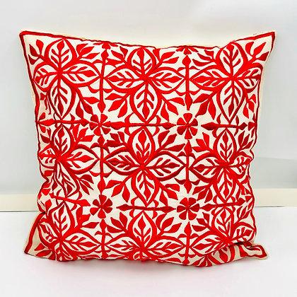 Coussin motif Maroc Rouge