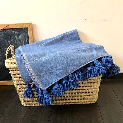 Le plaid en coton Bleu roi