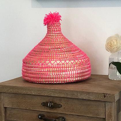 La corbeille brodée rose avec couvercle taille XS