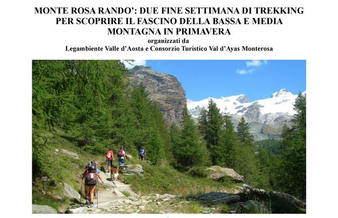 Monte Rosa Randò: due fine settimana di Trekking - 24/25 giugno