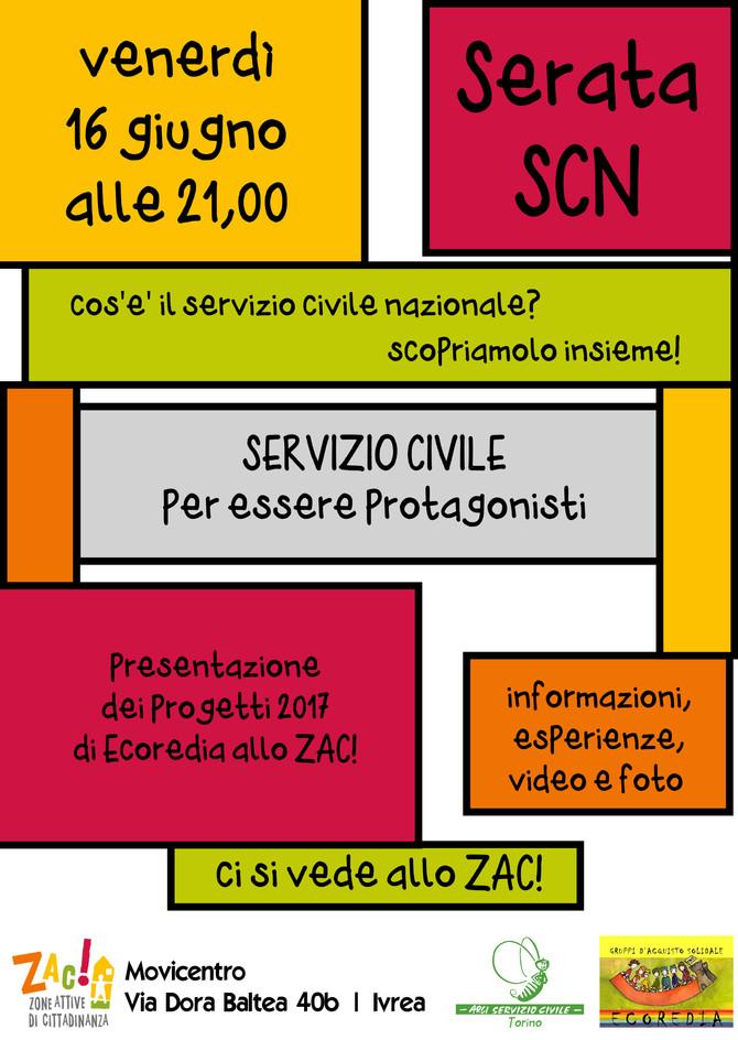 16 giugno - Serata Servizio Civile Nazionale