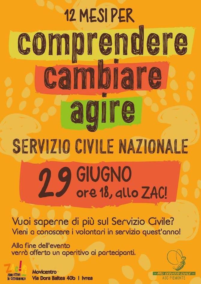 Il Servizio Civile Nazionale | vieni a conoscerlo! | 29 Giugno H 18:00 allo ZAC Zone Attive di Citta