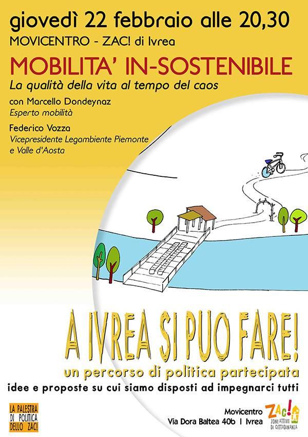 Mobilità in-sostenibile: la qualità della vita al tempo del caos | 22 febbraio h. 20.30 allo ZAC!