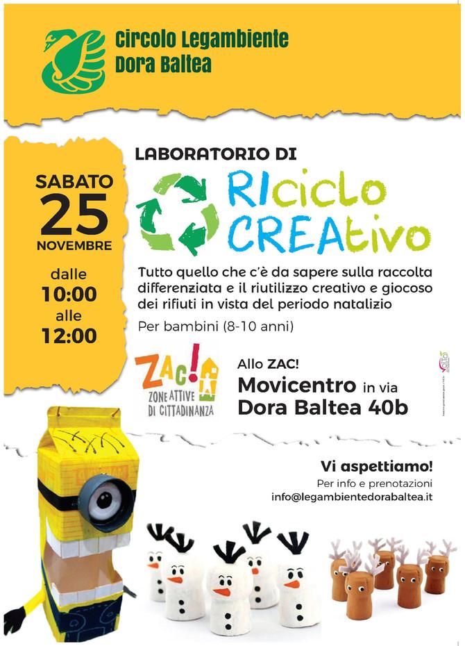 25 Novembre - Laboratorio di Riciclo Creativo per bambini
