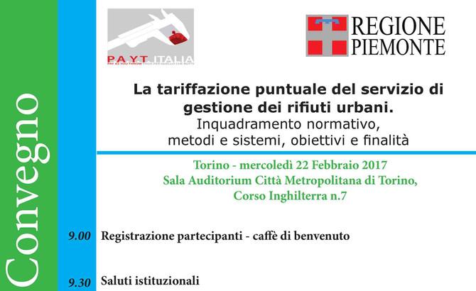 """22 febbraio - Convegno su """"La tariffazione dei rifiuti urbani"""""""