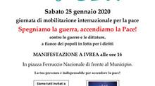 """25 gennaio - Manifestazione """"Spegnamo la guerra accendiamo la pace"""""""