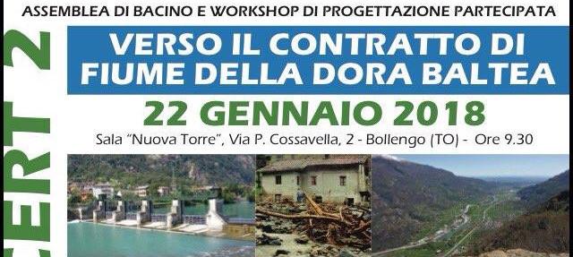 22 gennaio | Verso il contratto di fiume della Dora Baltea