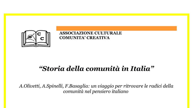 12 maggio - Storia della comunità in Italia