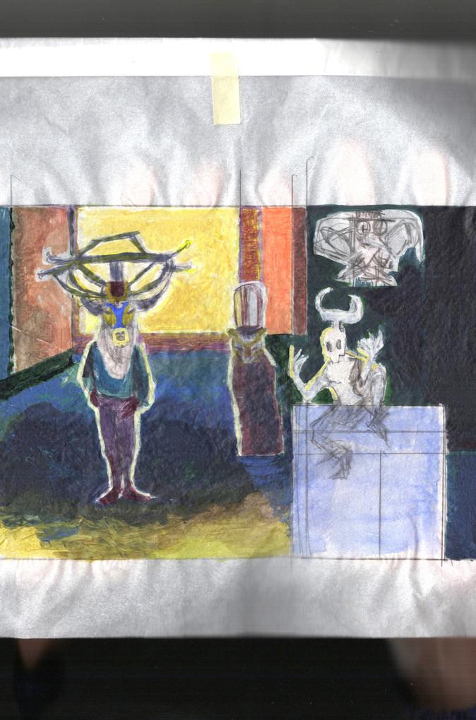 tableau à 4 personnages