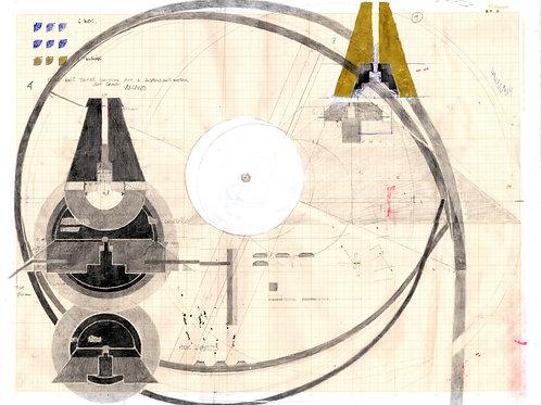 dessin de conception luminaire pièces de suspension