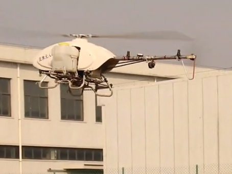 PT- Mais rápido que um trator. Helicóptero autónomo pulveriza plantações com alta eficiência