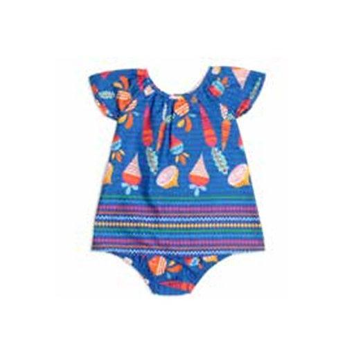 Precoce - Vestido Bebê Legumes