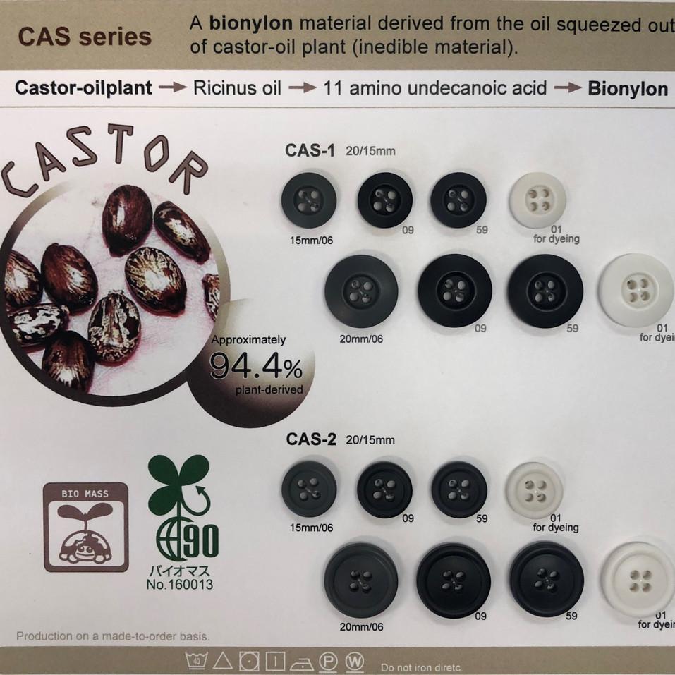 Trim Button Castor Bio Buttun Sustainabl