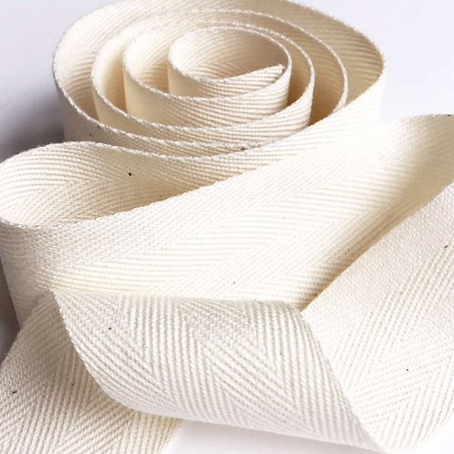 Organic Cotton tape - Herringbone