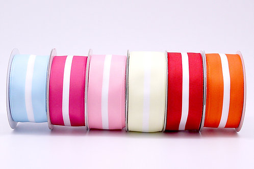Colored Ribbon from recycled and dyed PET yarn