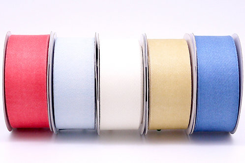 Organic Cotton Ribbon and various colors