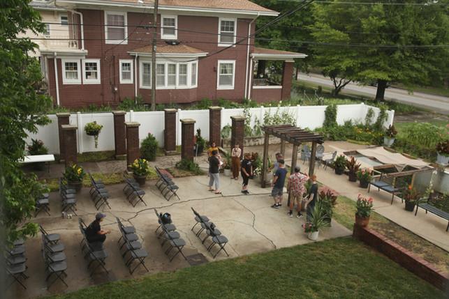 Outdoor Wedding Rehearsal Gufler Mansion.jpg