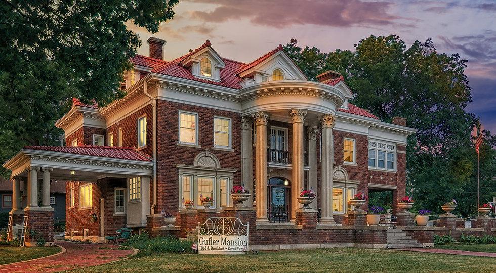Gufler Mansion Emporia Kansas Evening 3.