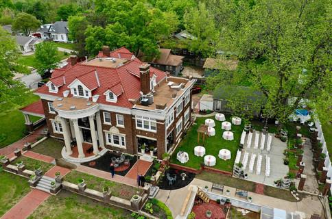 Outdoor Wedding Ceremony and Reception - Aerial ShotGufler Mansion.jpg