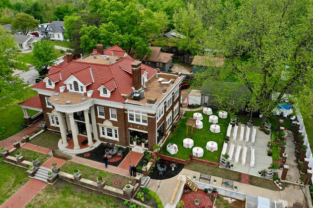 Outdoor Wedding Ceremony and Reception - Aerial ShotGufler Mansion.jpg