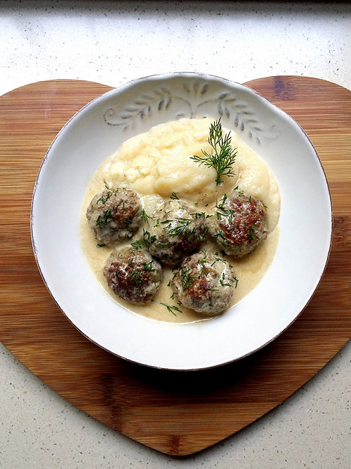 "Swedish Style Vegan ""Meat""balls -Individual Meal"