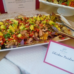 When the mama to be wants nachos, she gets nachos! #babyshower #catering #bluesage #chickennachos #S