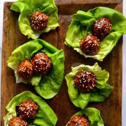 Keto BBQ Chicken Meatballs