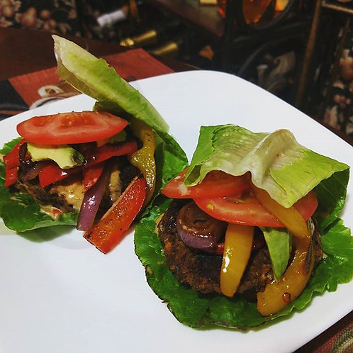 Vegan Black Bean Burgers - Individual Meal
