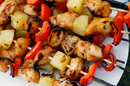 Chicken and Pineapple Kabob - Family of 4