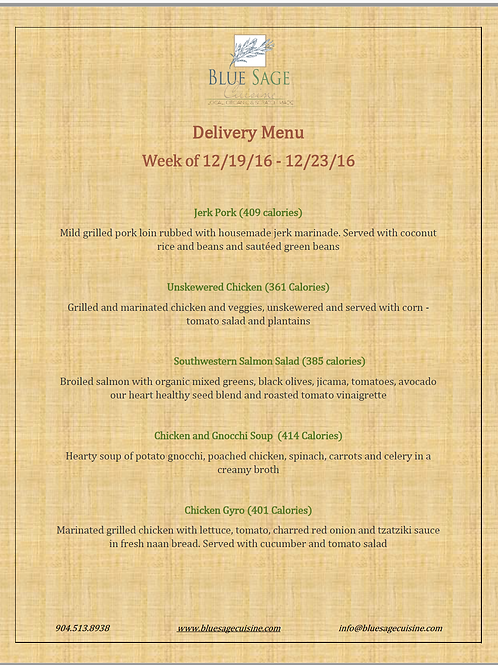 Weekly Meal Delivery - LARGE - 5 Meal Plan - 12/19 - 12/23