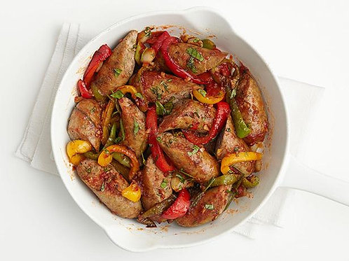 Sausage and Peppers - Family of 4