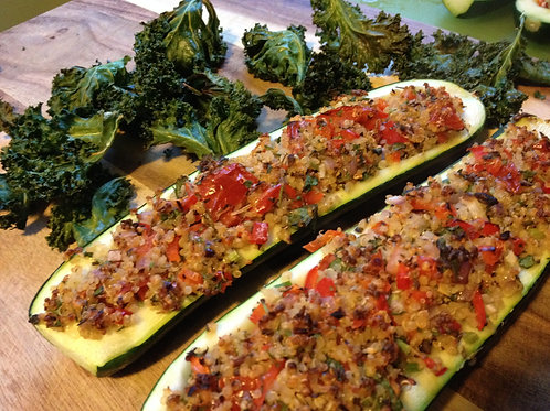 Vegan Zucchini Boats - Family of 4