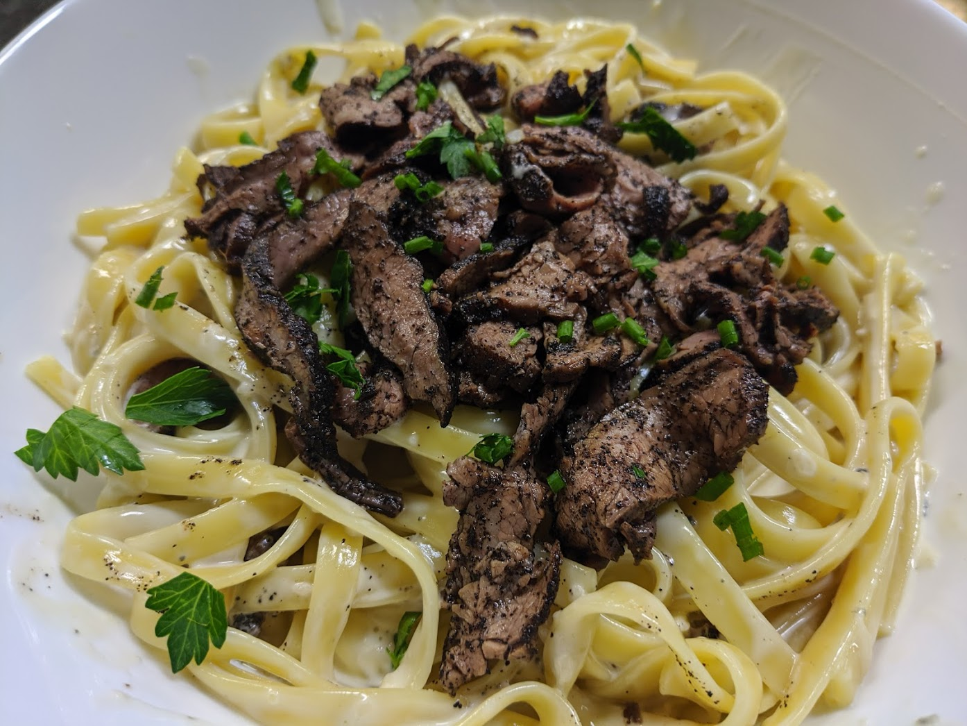 Steak Gorgonzola LInguine