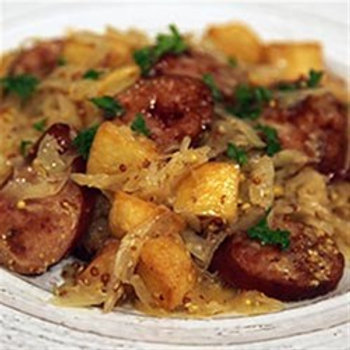 Sausage, Sauerkraut and Potatoes- Family of 4