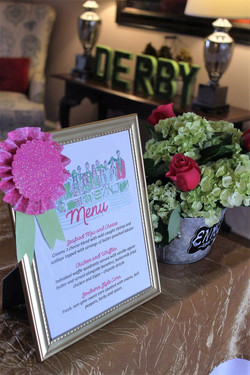 Derby Party menus