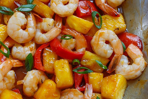 Pineapple and Pepper Shrimp- Family of 4