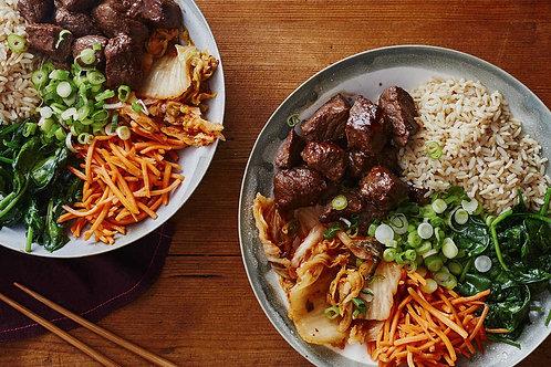 Korean Beef Bowl - Family of 4