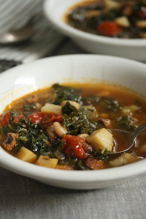 Portuguese Kale and Linguica Soup