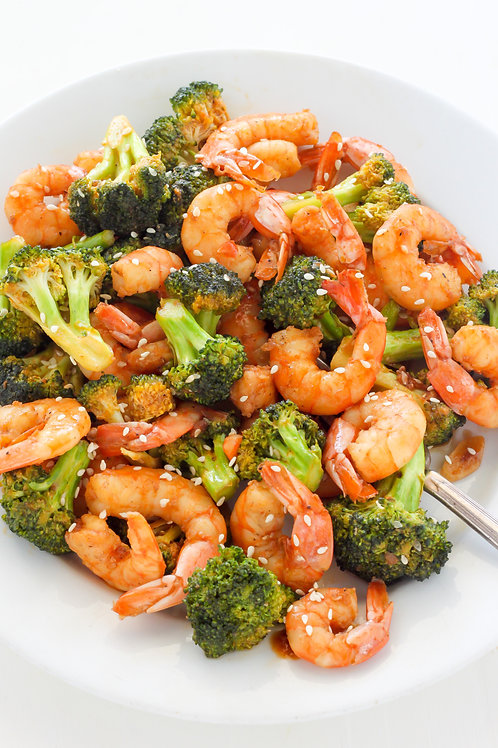 Shrimp and Broccoli- Family of 4