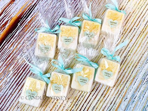 Tiffany soap and Loofah Inside