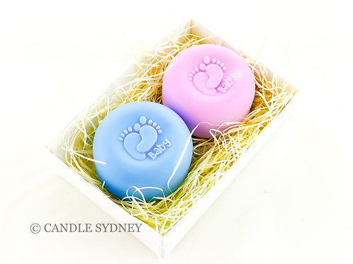 Two Baby Print Soaps