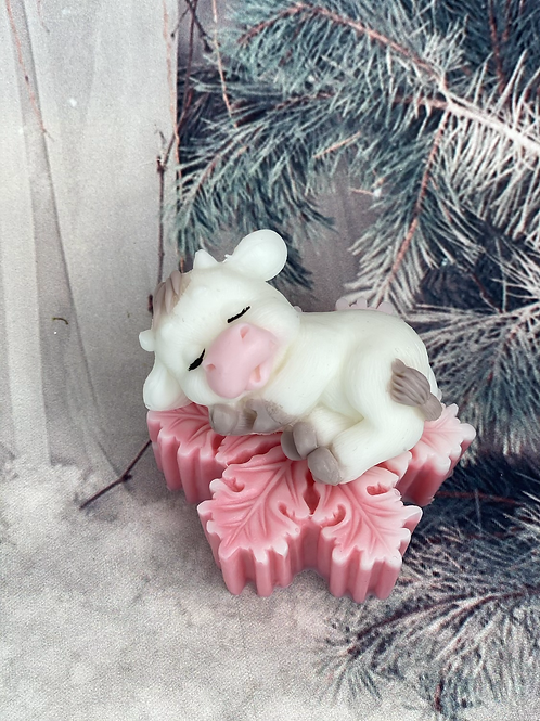 Christmas Cow and Snowflakes Soap