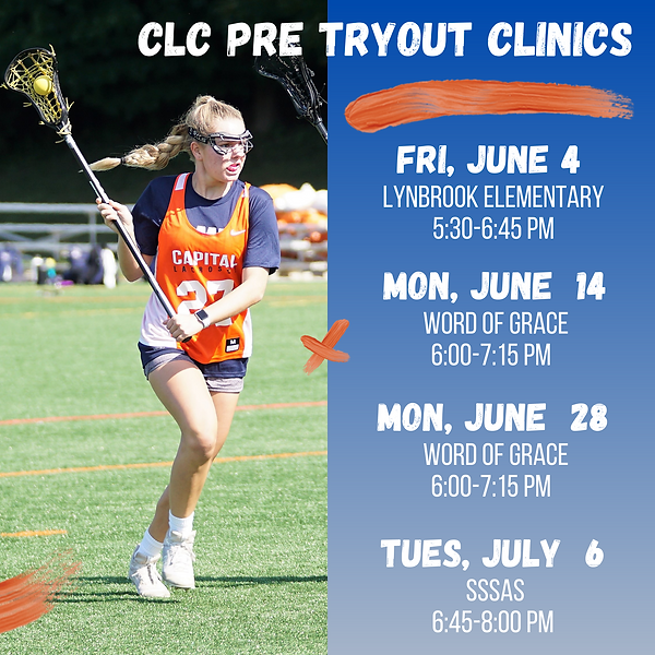 Upddated CLC Pre Tryout Flyer summer 21.
