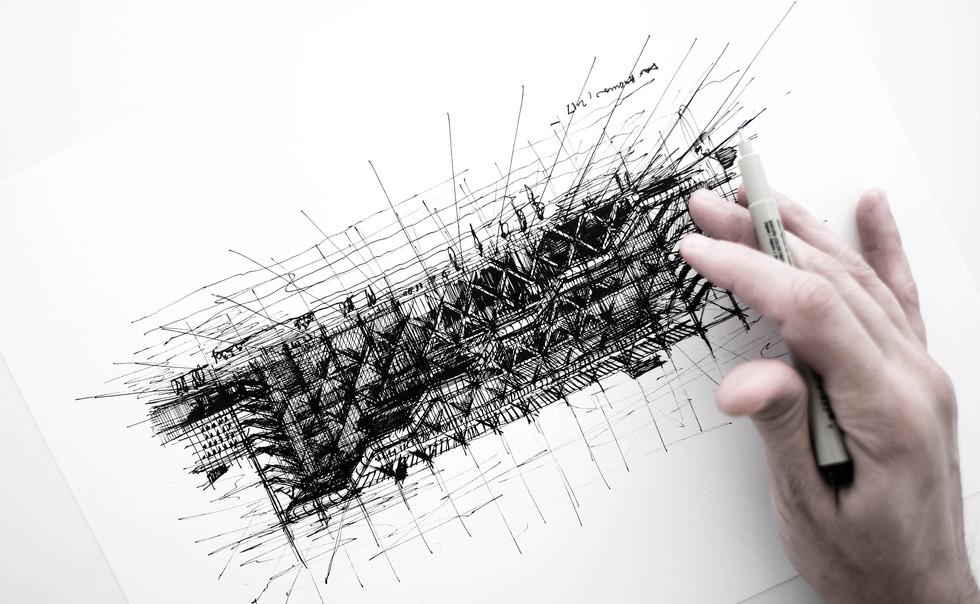 Dan Hogman Paris Sketch Pompidou.jpg