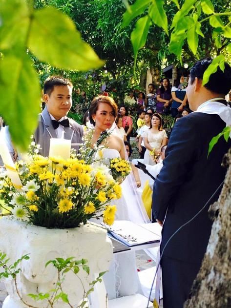 Wedding exchanging of vows bungad biluso Silang Cavite
